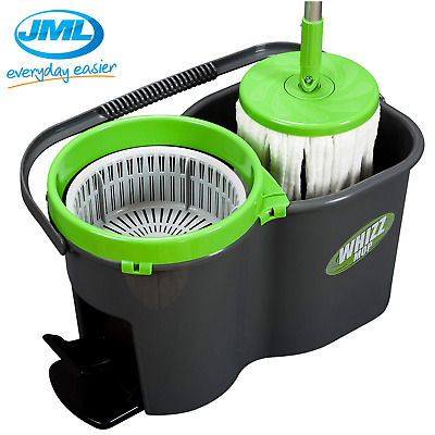 JML Whizz Spin Mop & Bucket Super Absorbent Microfibre Refill Home Cleaning Set