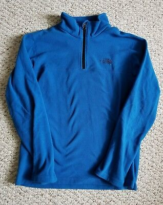 NWOT  THE NORTH FACE Boy's Blue Half ZIP - SIZE Youth XL