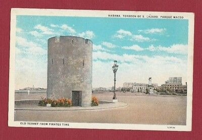 Habana Cuba Old Turret From Pirates Time Postcard