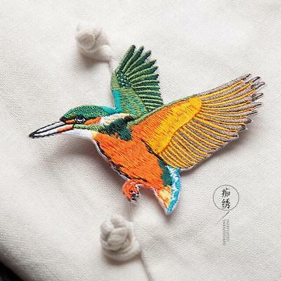 Butterfly Birds Embroidered Applique Iron On Patch Sew Iron On Patch Badge 8C