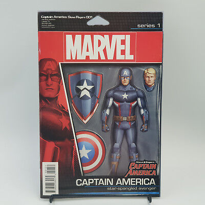 Captain America Steve Rogers #1 Marvel Comics Action Figure Variant Cover