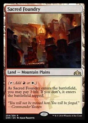 *Magic MtG: Sacred Foundry (Rare) - GUILDS OF RAVNICA *TOP*