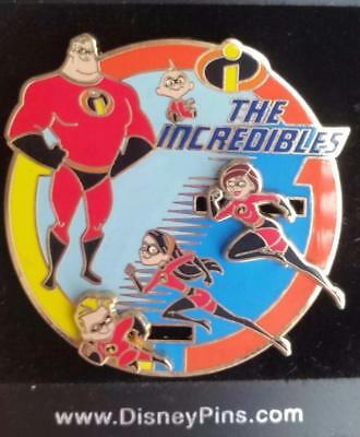 Disney The Incredibles Slider Pin Family on the Move Bob Helen Violet Dash Jack