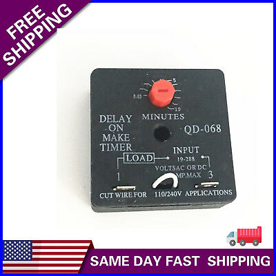 ICM102 Delay-on-Make Timer with .03-10 minute adjustable delay universal 18-240V