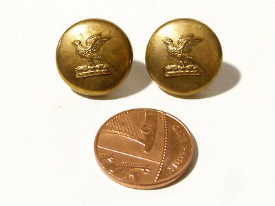 2x  19thC Antique Gilt Livery Buttons with Pheasant Design - Small #L44*