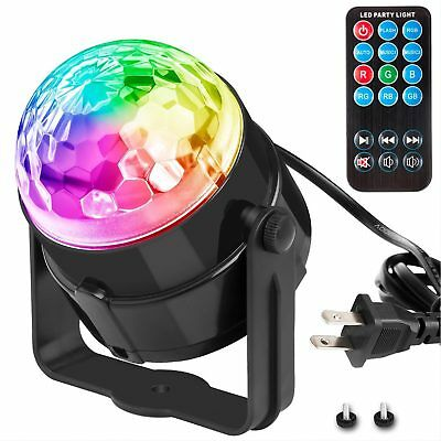Party LED Disco Lights Strobe DJ Ball Sound Activated Dance Bulb Lamp Decoration
