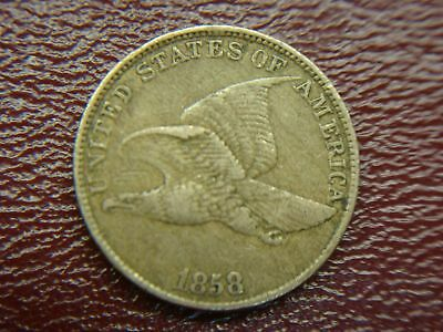 1858 Ll United States Flying Eagle Cent - Great Early Copper/nickel Cent