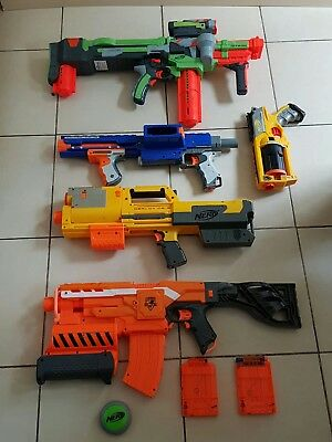 Nerf Guns Job Lot, Good Condition, Various Models, Used