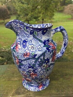 1930s Hand Painted  Pitcher Ringtons Ltd Newcastle On-Tyne Maling Ware Antique