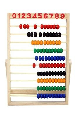 Wooden Abacus Beads Rainbow Colours Educational Toys Preschool Math Learning Toy