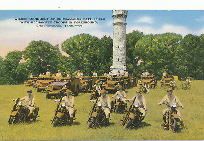 Wilder Monument Chickamauga Battlefield Troops on Motorcycles