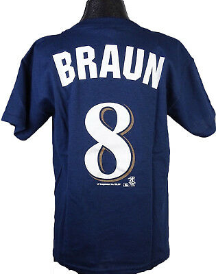 Milwaukee Brewers Children's Youth Boys Blue Ryan Braun Player T-Shirt MLB XS S