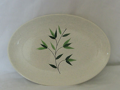 Unique Hand Painted Green Leaf Serving Dish Made in France - Unused