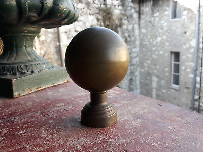 Boule de rampe d'escalier ancienne laiton 1930 brass ball stairway banister