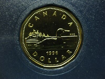 1996 Canadian Specimen Loonie ($1.00) One Dollar