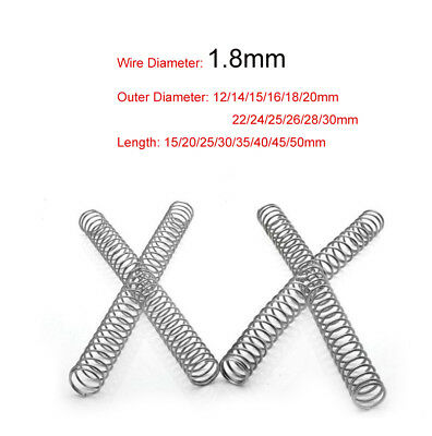 Compression Spring Various Size 12-30mm Diameter x 15-50mm Length Pressure Small