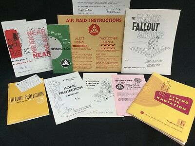 1961 Lot Civil Defense FALLOUT SHELTER Nuclear Radiation CONELAD War Surviv Prep
