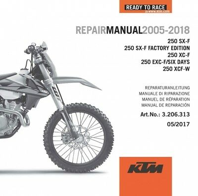 genuine ktm repair manual 350 sx f xc f exc f xcf w 2008 2015 ktm rh picclick co uk 2008 ktm 250 sxf workshop manual 2010 KTM 250 SX-F Stock