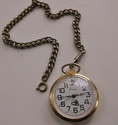 Eastman pocket watch TRAIN Locomotive deign case