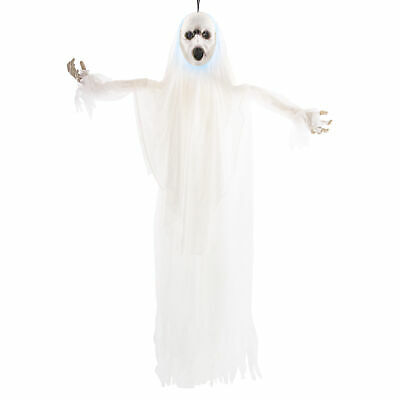 Halloween Haunters Animated 5ft Hanging Screaming Ghost Strobe Prop Decoration