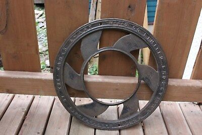 Antique Round Circle Grate Cover Victorian Salvage Architectural Cast Iron VTG