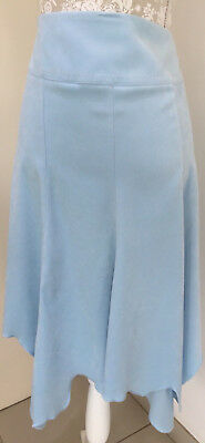 Ladies Blue Suedette Fishtail Skirt Size 14