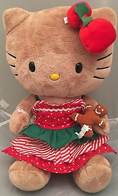 Build A Bear Hello Kitty Gingerbread Ginger Tan Color Cat Retired 2012.Tush Tag!