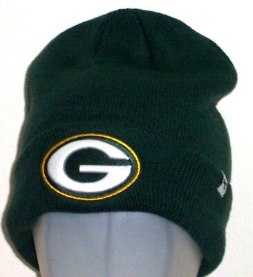 GREEN BAY PACKERS 47 Brand NFL Raised Cuff Knit Green Winter Hat ... 156bbe174