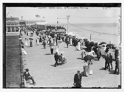 Board walk,esplanade review,on beach,Asbury Park,New York,NY,July 11,1911