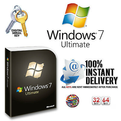 New Microsoft Windows 7 Ultimate 32/64-Bit Product Key + Download