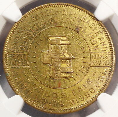 Majestic Ranges Good Luck Token, 1904 Louisiana Purchase Expo, NGC MS-62PL, Rare