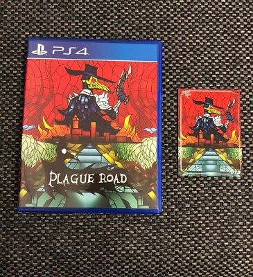 Plague Road PS4 Limited Run Games #72 kickstarter exclusive cover w trading card