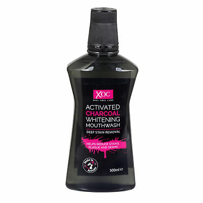xoc xpel oral care activated charcoal whitening mouthwash deep stain removal