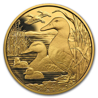 2018 Austria Proof Gold €100 Wildlife in our Sights (The Mallard) - SKU#174902