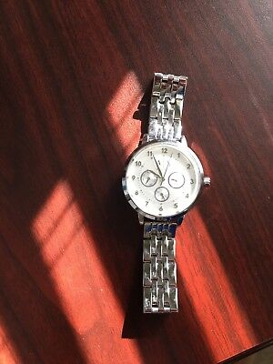 Armani Exchange AX5376 Silver Dial Stainless Steel Ladies Chronograph Watch