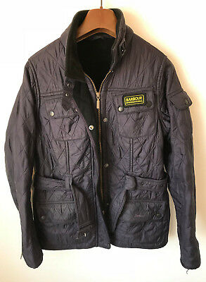 Barbour International! Womens Uk 10/12! 36 Chest! Purple! Coat/jacket! Quilted