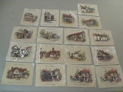 Vintage Job Lot 16 Different Wills Old Inns Cigarette Card Number Poor Condition
