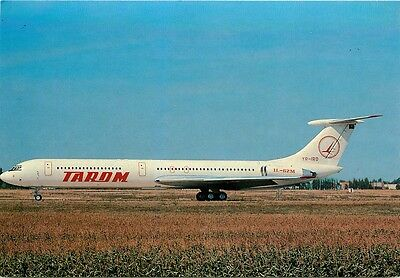 Tarom Romanian Air Transport Ilyushin 62.m At Paris Orly Postcard