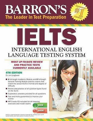 NEW - Barron's IELTS with MP3 CD, 4th Edition by Loughleed, Dr. Lin