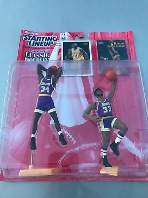 reputable site 20387 ffe08 Shaquille Oneal Kareem Abdul-Jabbar 1997 Starting Lineup Classic Doubles LA  Lake