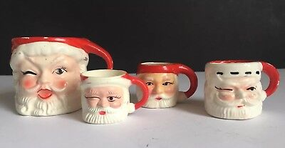Vintage Winking Santa Mug Lot of 4 ~ Napcoware, Japan, Hong Kong