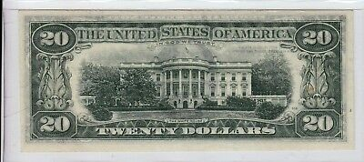 Full Offset Printing Error $20 Front To Back 1974 Federal Reserve Note