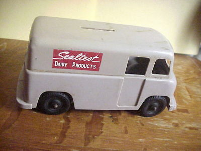 SEALTEST DAIRY PRODUCTS Vintage Hard Plastic Toy  MILK TRUCK BANK