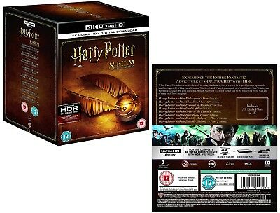 Harry Potter 1-8 2001-2011: Complete 7 Stories/8 Movies 4K Ultra Hdr R0 Blu-Ray