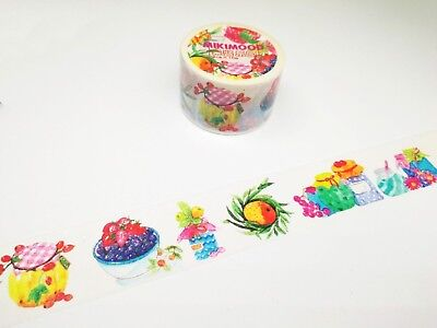 Washi Tape 30mm wide Plants and flowers sold by meter