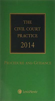 The Civil Court Practice 2014: (The Green Book) Book The Cheap Fast Free Post