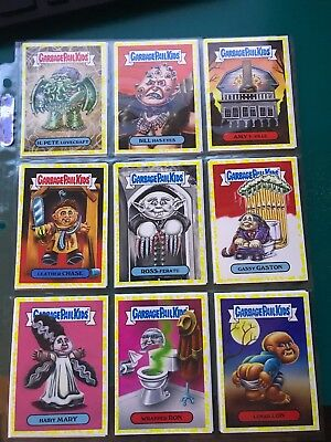 29 Yellow Parallel Garbage Pail Kids Oh The Horror-ible!