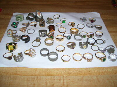 Lot #140 Vintage Estate Costume Jewelry Rings Some are Avon