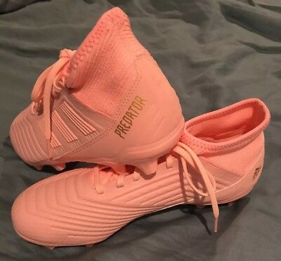 ADIDAS PREDATOR 18.3 FG Soccer Cleat - Trace Pink/Clear Orange size 7.5