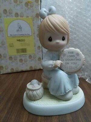 """Precious Moments - """"The Lord Is Counting On You"""" - #531707"""